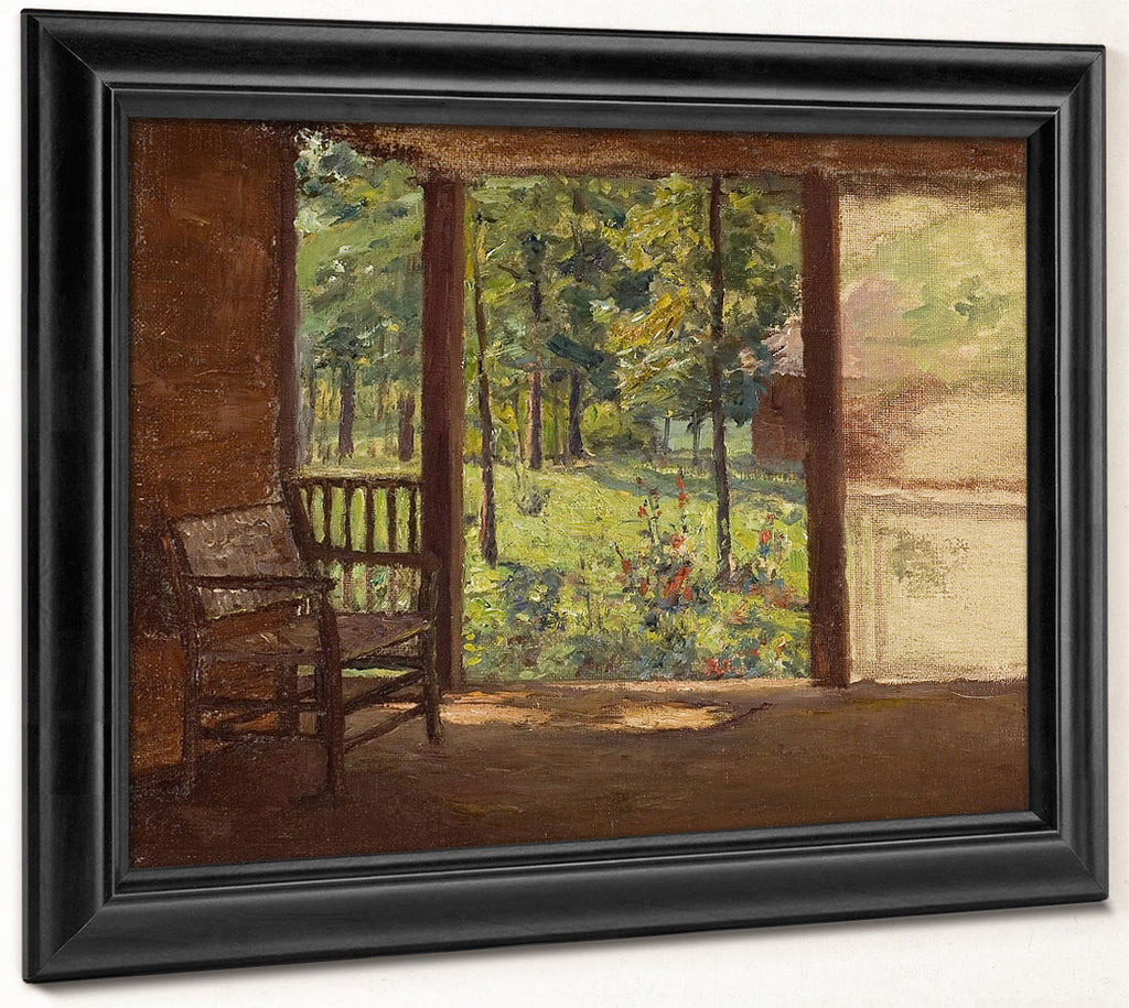 A View From The Porch By Theodore Clement Steele