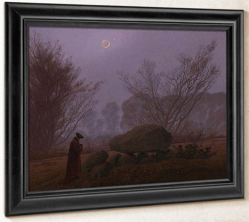 A Walk At Dusk By  By Caspar David Friedrich