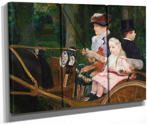 A Woman And A Girl Driving By Cassatt Mary