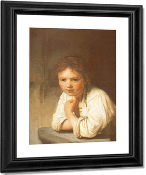 A Young Girl Leaning On A Window Sill 1645 By Rembrandt