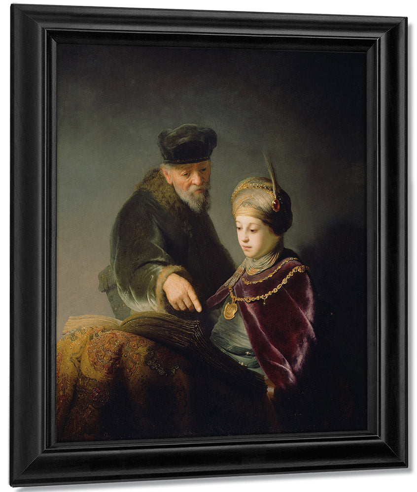 A Young Scholar And His Tutor By Rembrandt