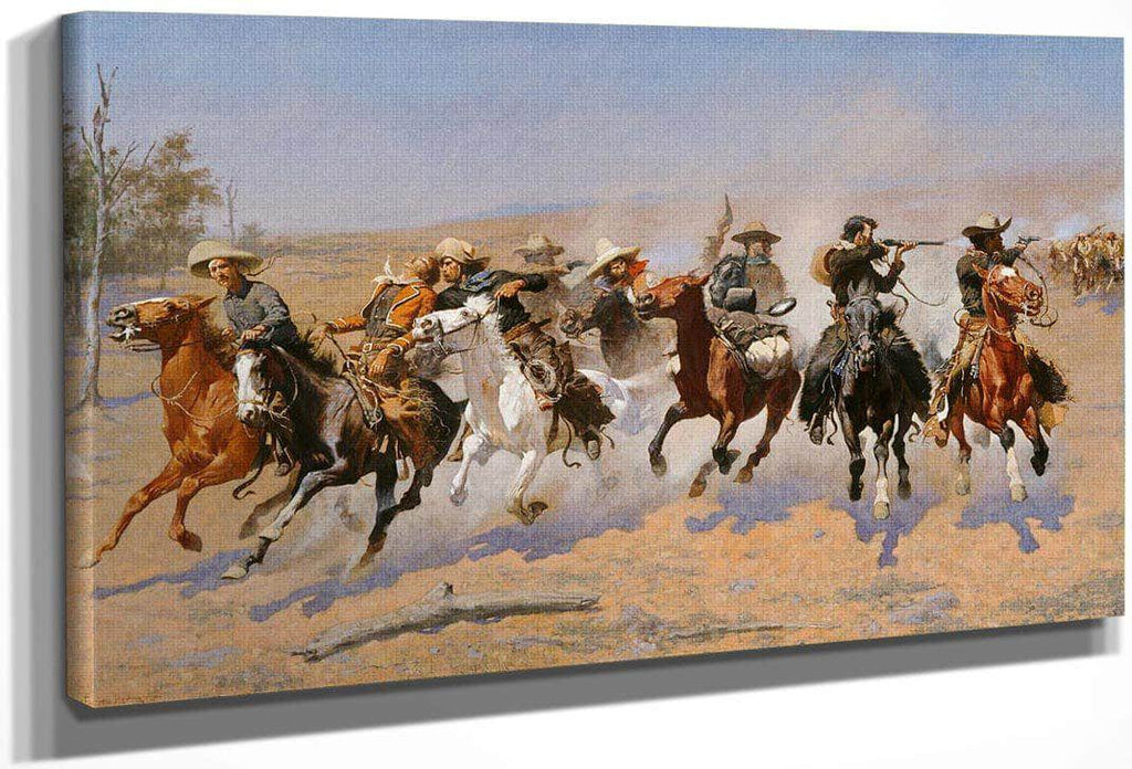 A Dash For the Timber By Frederic Remington