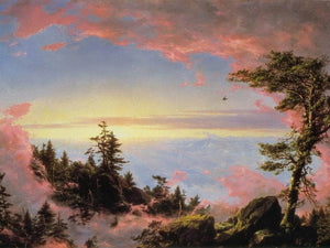 Above The Clouds At Sunrise By Fredric Edwin Church