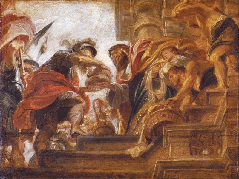 Abraham And Melchizedek By Peter Paul Rubens
