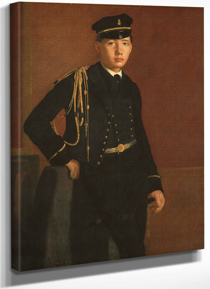 Achille De Gas In The Uniform Of A Cadet By Edgar Degas