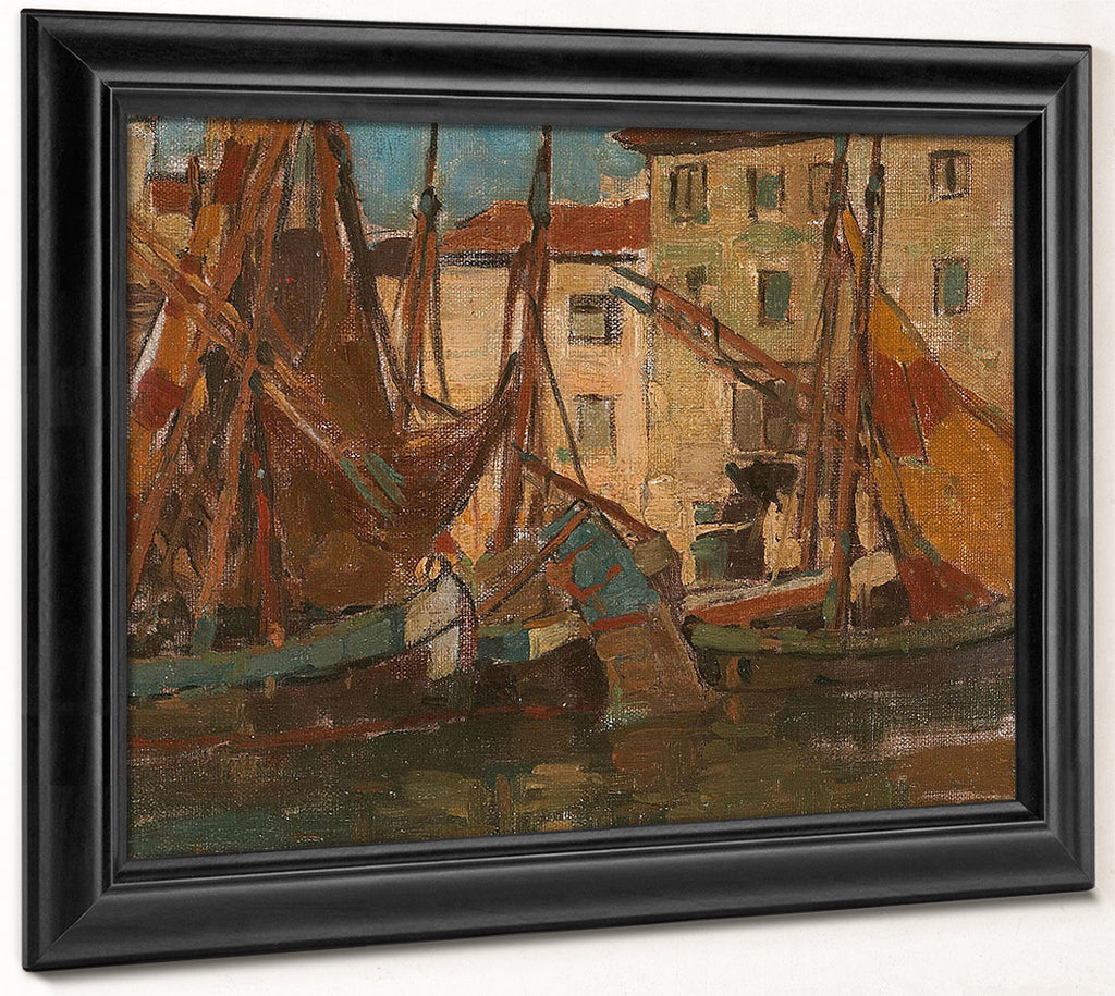 Adriatic Fishing Boats By Edgar Payne