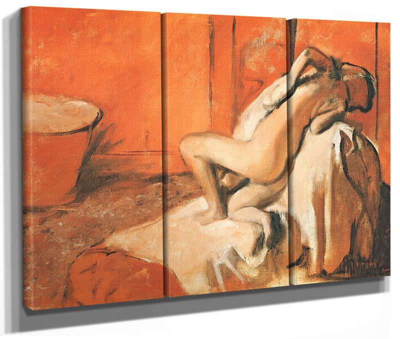 After The Bath 3 By Edgar Degas