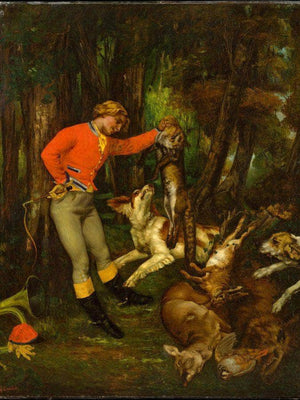 After The Hunt 1859 By Gustave Courbet
