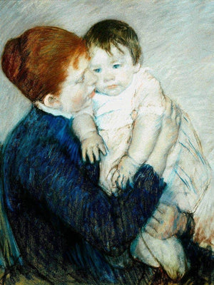 Agatha And Her Child By Cassatt Mary