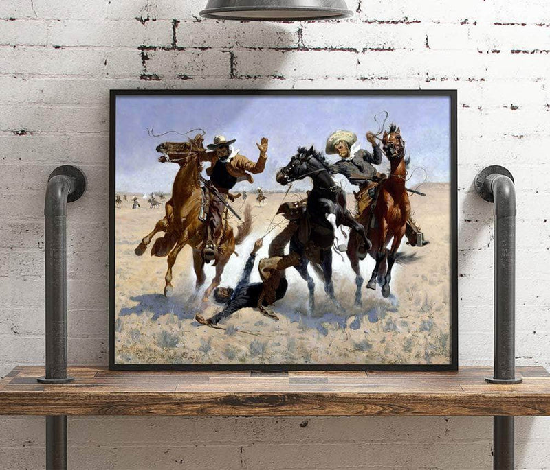 Aiding A Comrade Painting Frederic Remington Canvas Art