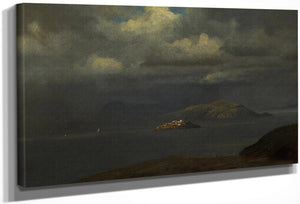 Alcatraz, San Francisco Bay, 1875  By Albert Bierstadt By Albert Bierstadt
