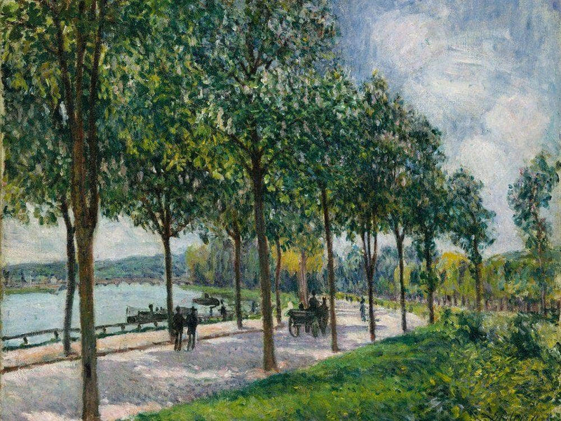 Allee Of Chestnut Trees 1878 By Alfred Sisley