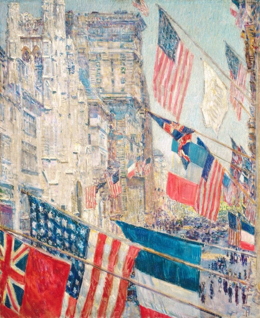 Allies Day, May 1917 Painting Frederick Childe Hassam Canvas Art