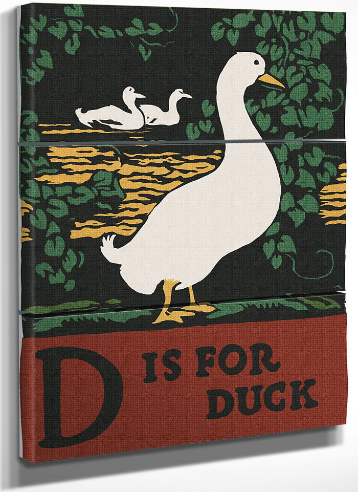 Alphabet  D Is For Duck By C.B. Falls