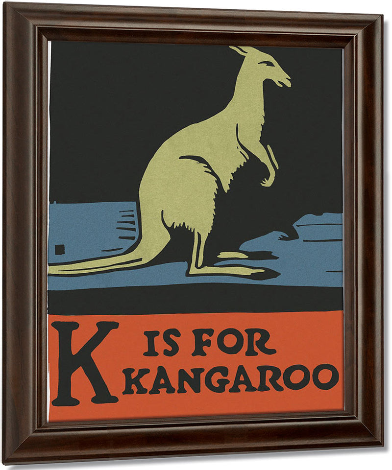 Alphabet  K Is For Kangaroo By C.B. Falls