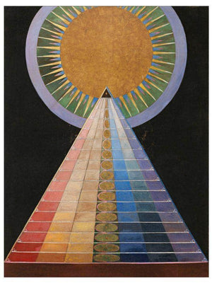 Altarpiece No1 Group X 1915 Oil Tempera And Gold On Canvas 185X152Cm Copyright Stiftelsen Ve By Hilma Af Klint
