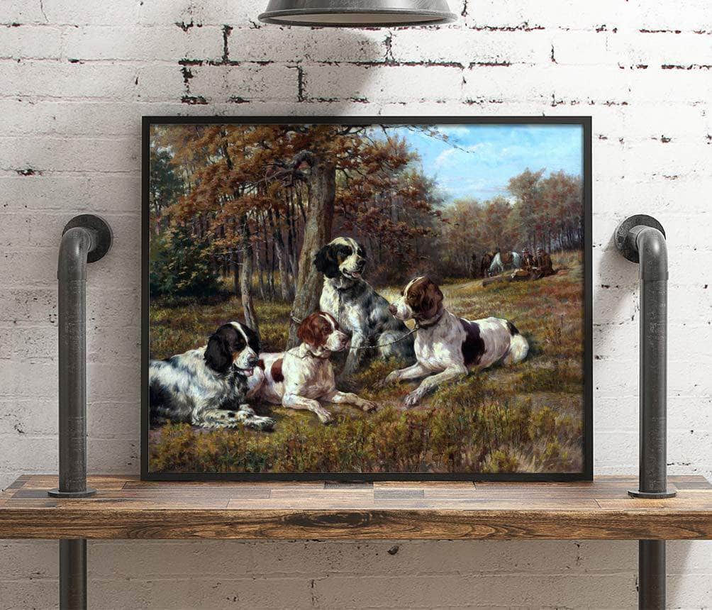 American Setters At Rest Painting Edmund Osthaus Canvas Art