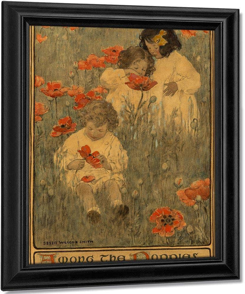 Among The Poppies The Child In A Garden Scribners Magazine Interior Illustration December 1903 By Jessie Willcox Smith
