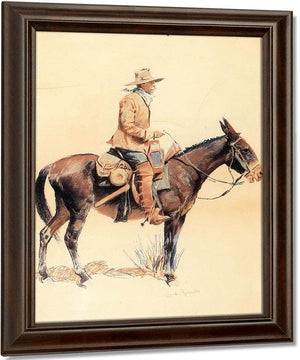 An Army Packer Aka A Regular By Frederic Remington