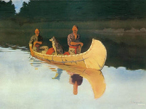 An Evening On A Canadian Lake By Frederic Remington