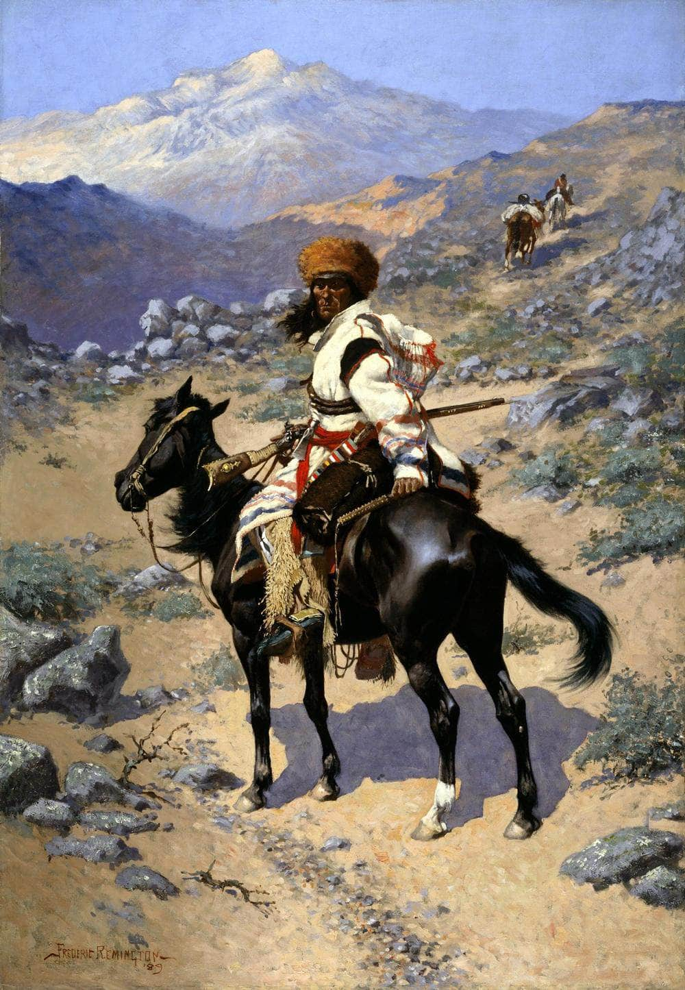 An Indian Trapper Painting Frederic Remington Canvas Art