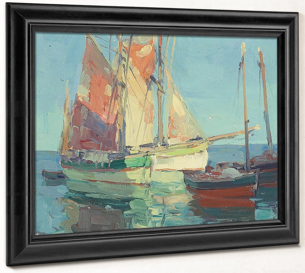 Anchorage, Brittany Tuna Boats By Edgar Payne