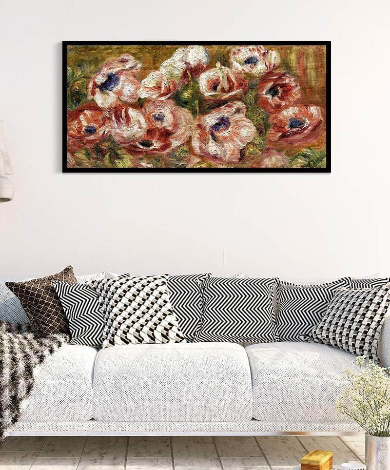 Anemones Painting Auguste Renoir Canvas Art