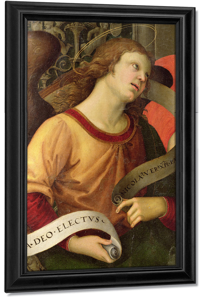 Angel From The Polyptych Of St. Nicolas Of Tolentino By Raphael