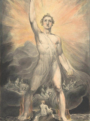 Angel Of The Revelation 1803 1805 Pencil Watercolor 39 2X26Cm Met By William Blake