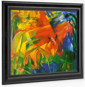 Animals In A Landscape By Franz Marc
