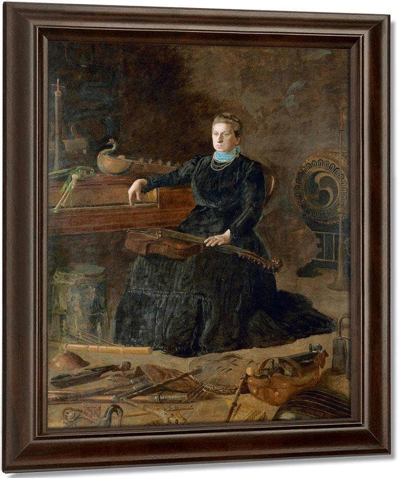 Antiquated Music (Portrait Of Sarah Sagehorn Frishmuth) By  Eakins Thomas