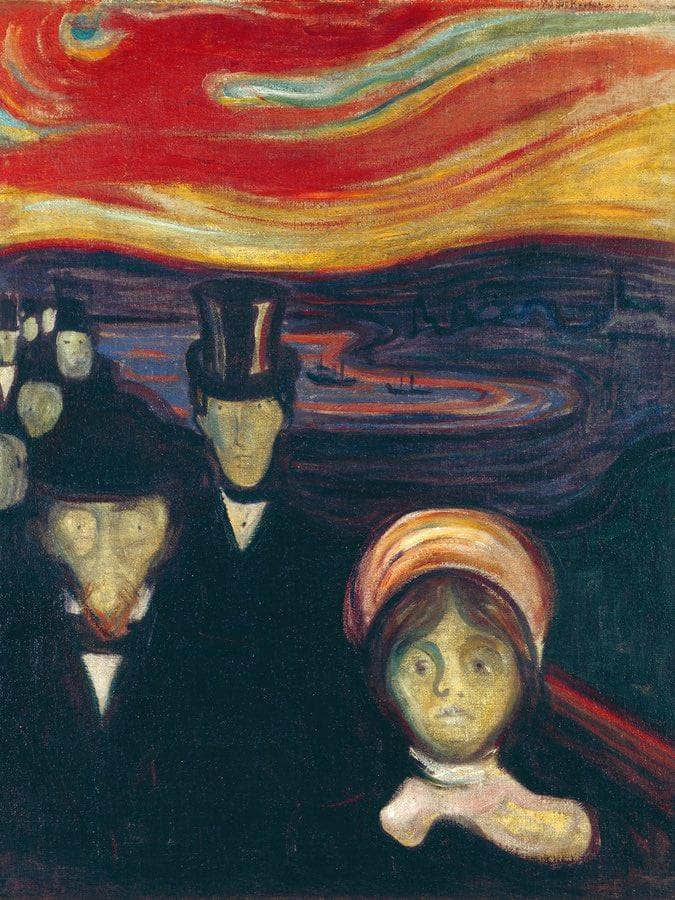 Anxiety 1894 94X74Cm Munch Museum M 515 X3000 By Edvard Munch