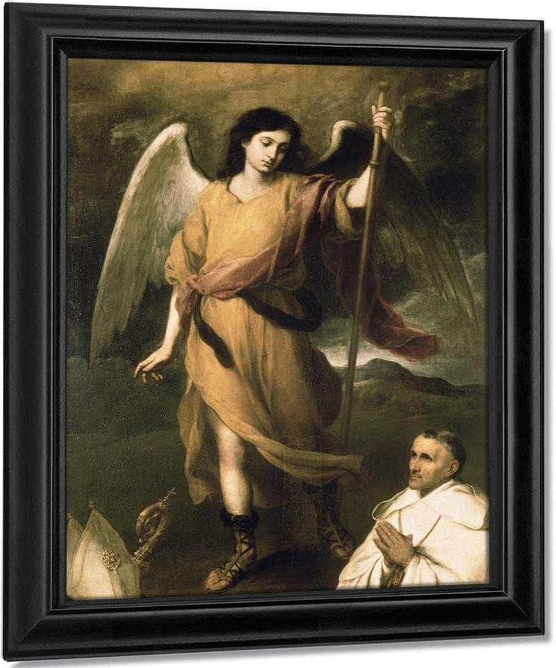 Archangel Raphael With Bishop Domonte By Bartolome Esteban Murillo