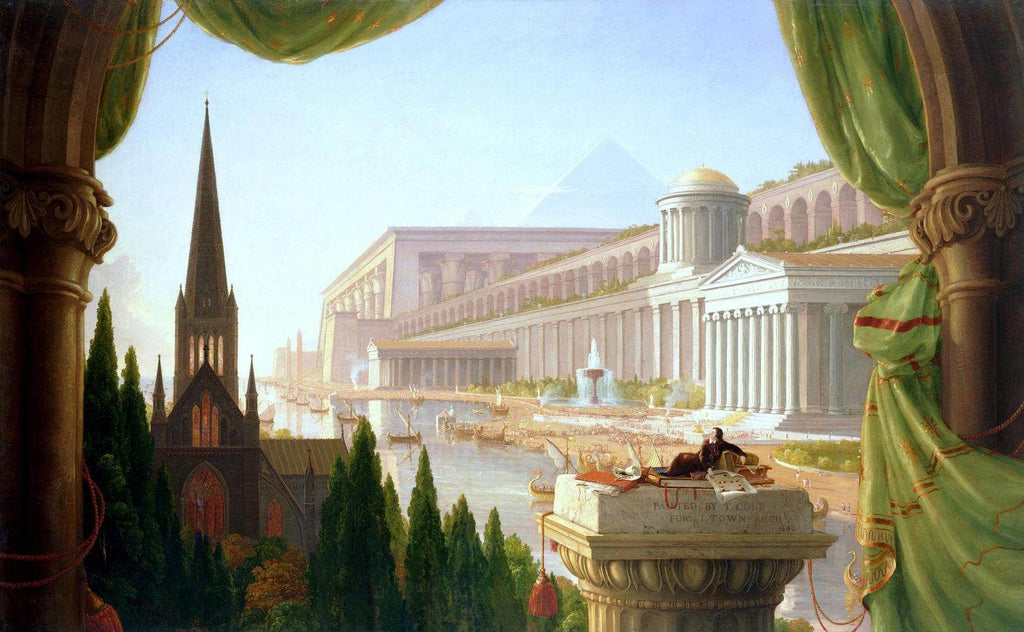 Architects Dream Painting Thomas Cole Canvas Art
