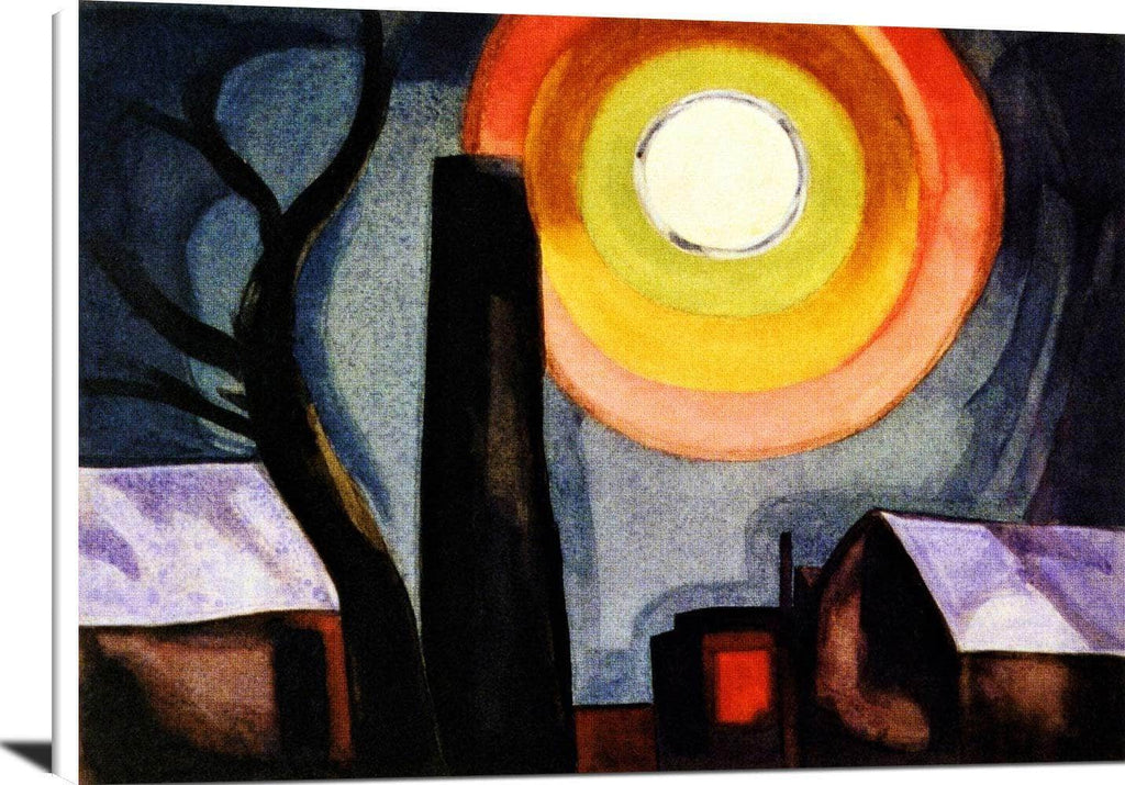 Ascension Painting Oscar Bluemner Canvas Art
