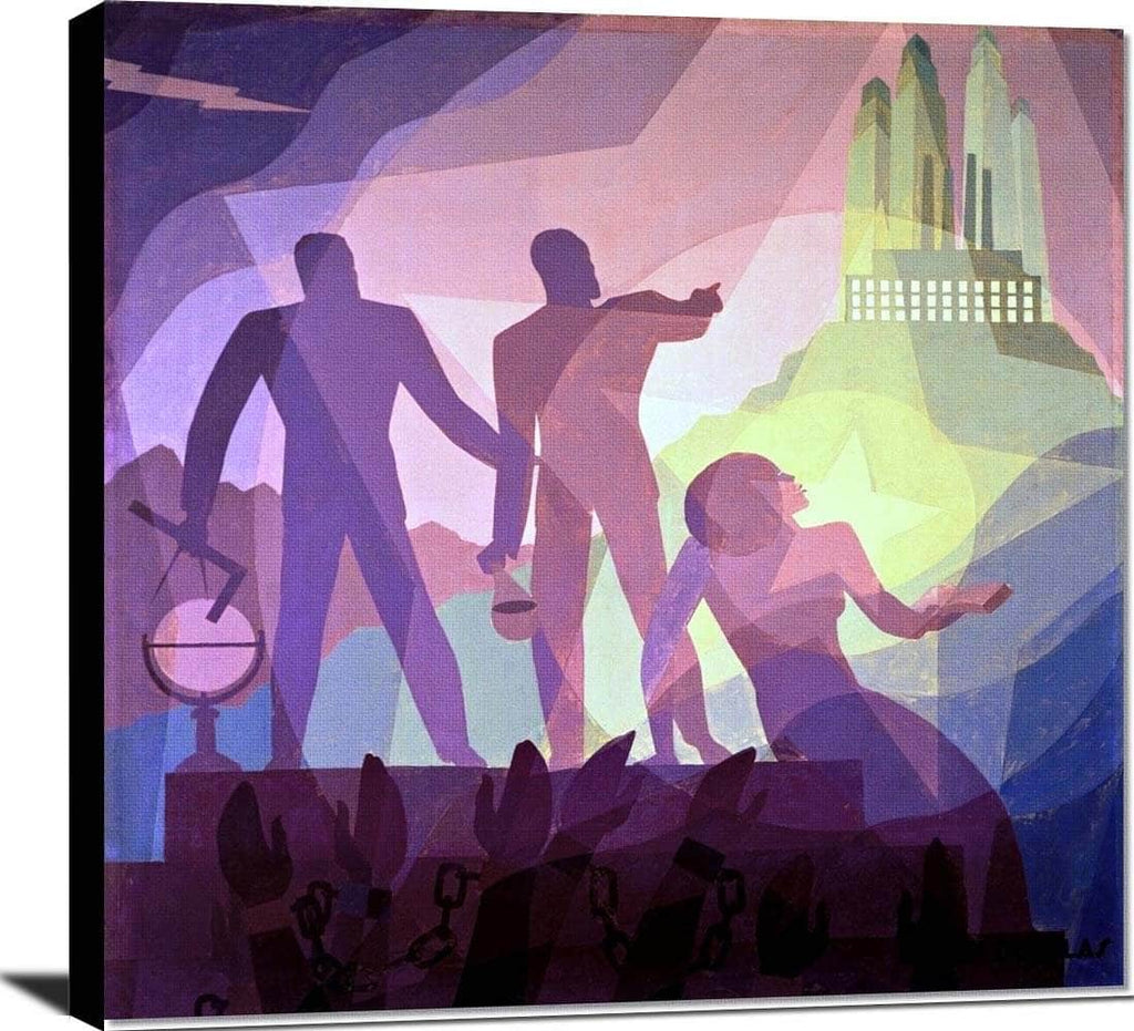 Aspiration Painting Aaron Douglas Canvas Art