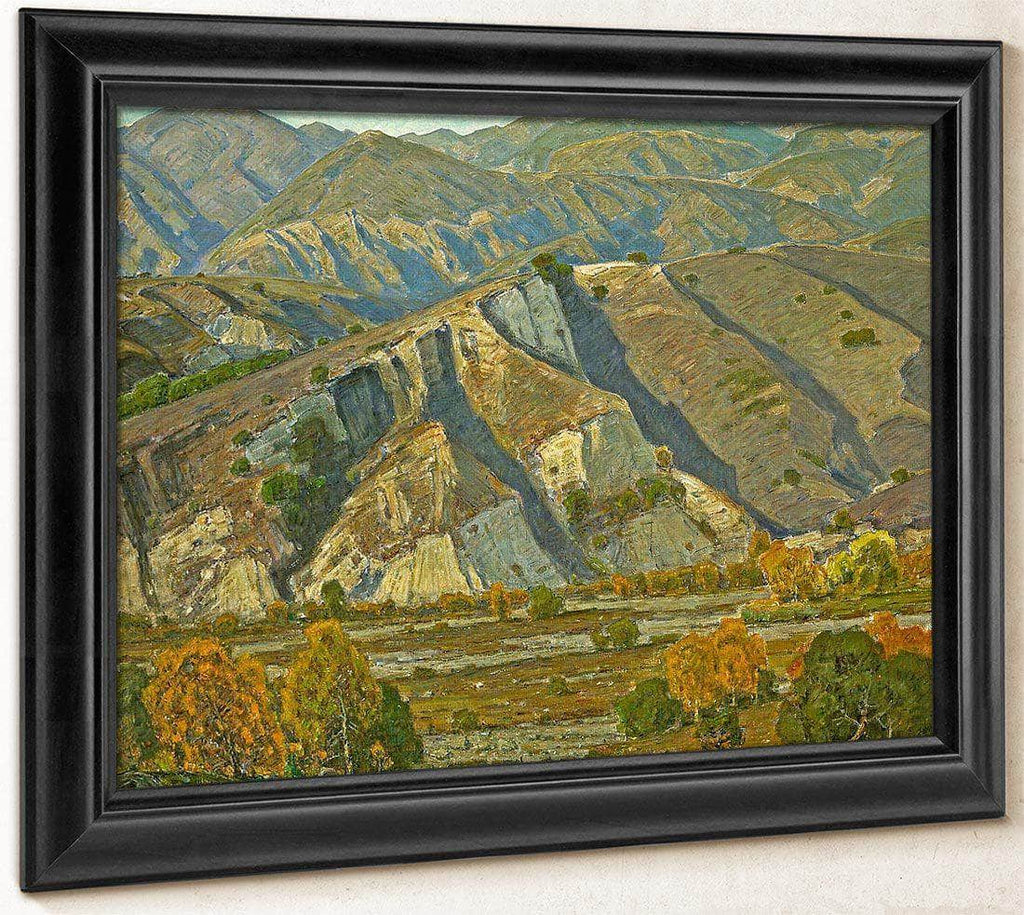 At The Base Of The Mountains By William Wendt