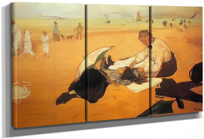 At The Beach By Edgar Degas