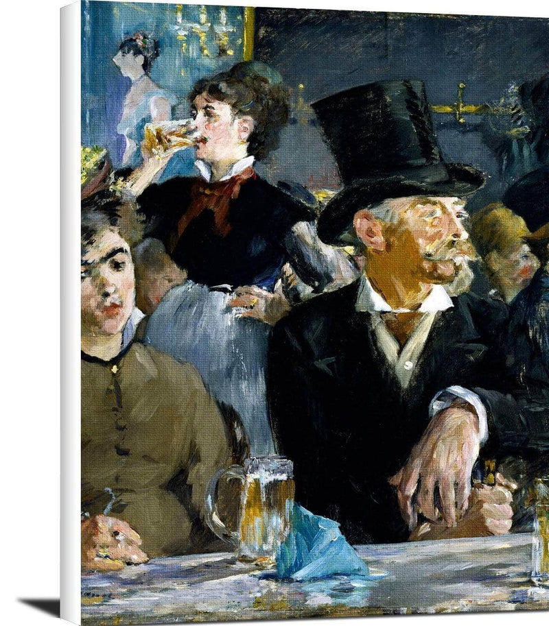 At The Cafe Painting Edouard Manet Canvas Art