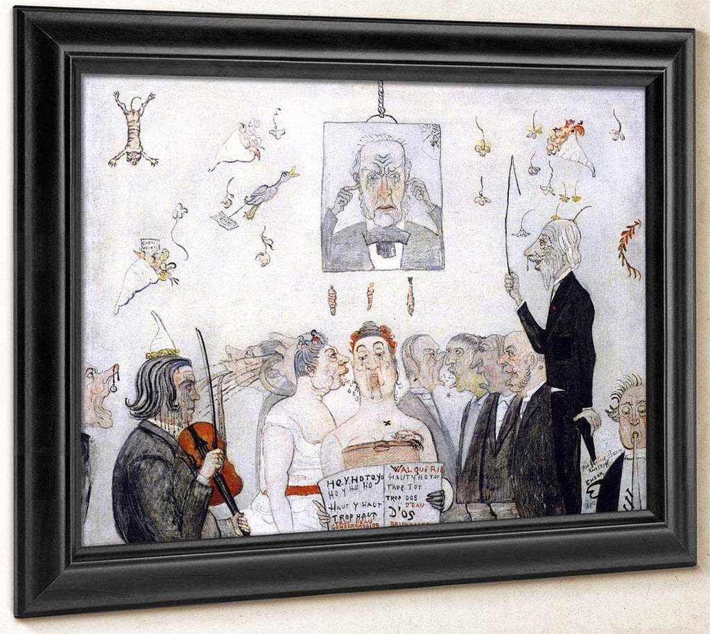 At The Conservatory By James Ensor