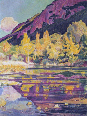 At The Foot Of The Petit Saleve 1893 Art Nouveau 65 5X49Cm Kunsthalle Bielefeld Germany By Ferdinand Hodler