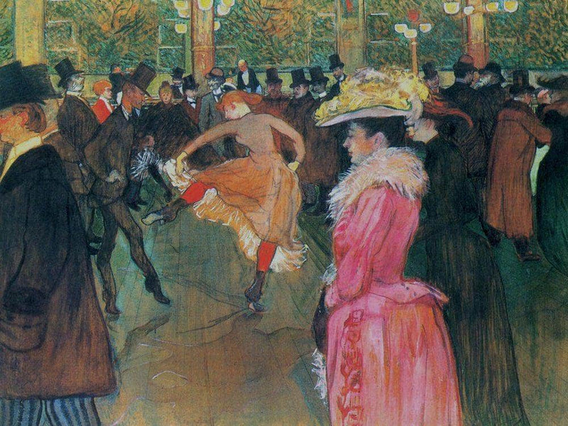 At The Moulin Rouge The Dance 1890 By Henri De Toulouse Lautrec