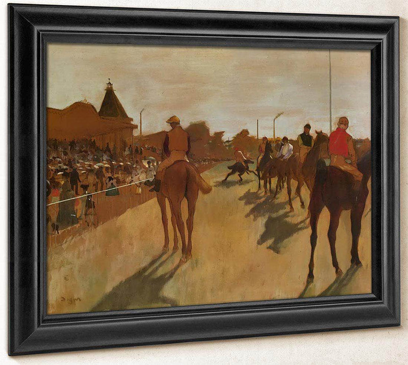 At The Race Course By Edgar Degas