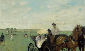 At The Races In The Countryside By Edgar Degas