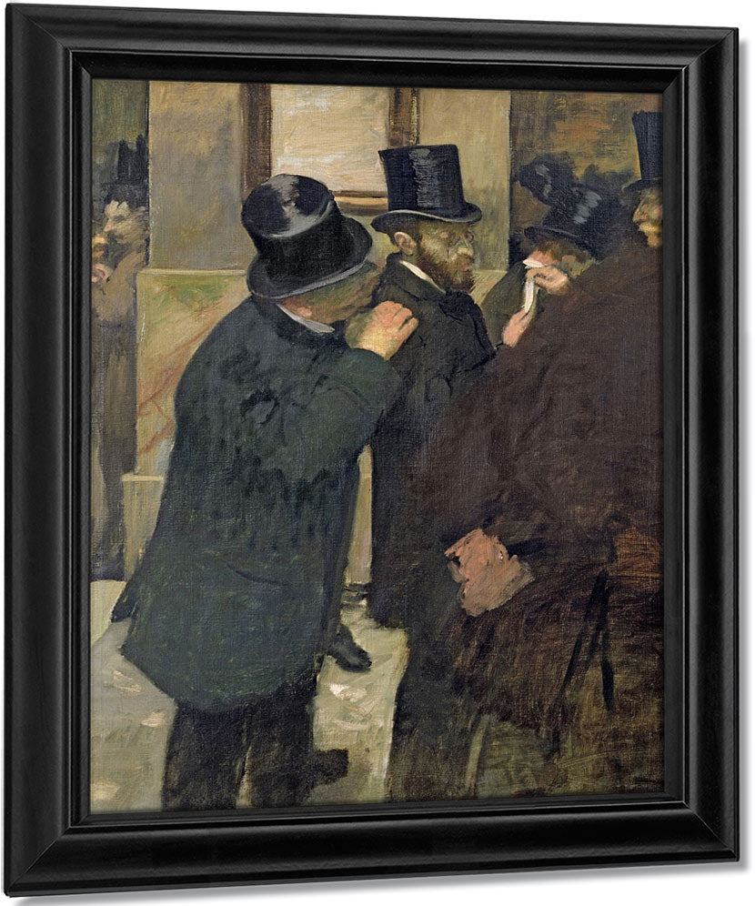 At The Stock Exchange By Edgar Degas