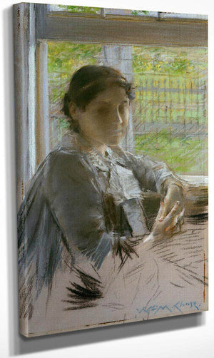 At The Window By Chase William Merritt