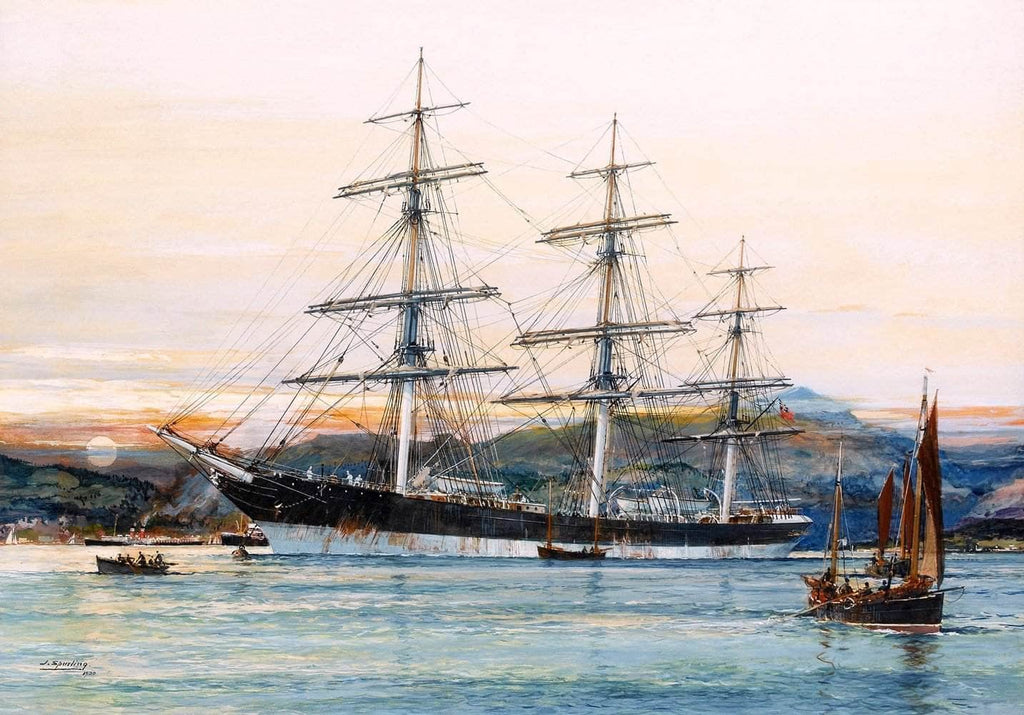 Australian Clipper Old Kensington Painting Jack Spurling Canvas Art