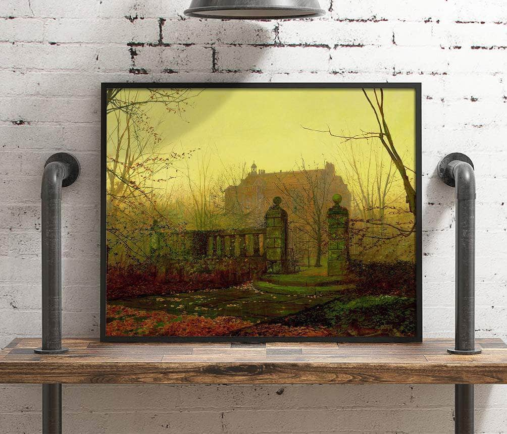 Autumn Morning Painting John Atkinson Grimshaw Canvas Art