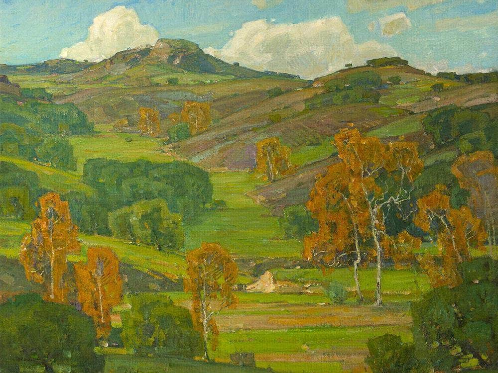 Autumn Sycamores By William Wendt