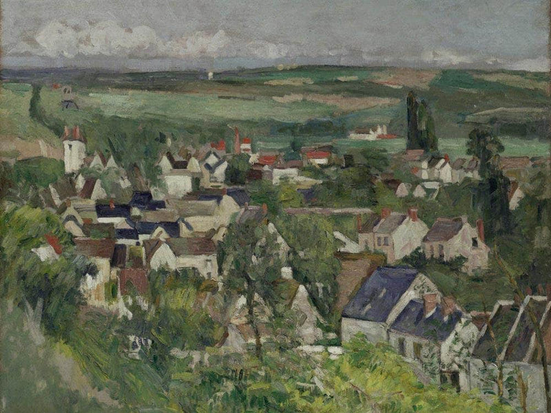 Auvers Panoramic View By Cezanne Paul